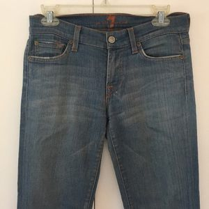 7 For All Mankind Jeans, size 27 low rise bootcut
